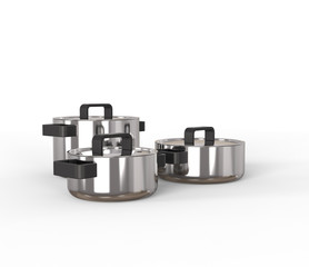 Modern pots and pans