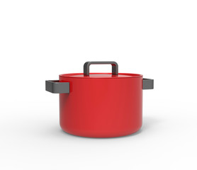 Big red soup pot