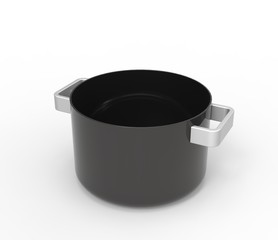 Empty soup pot
