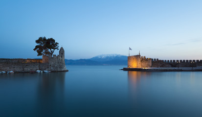 the port of Nafpaktos in Greece
