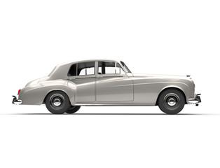 Silver oldtimer - cllasic vintage car