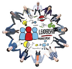 Diversity Casual Leadership Management Team Support Concept