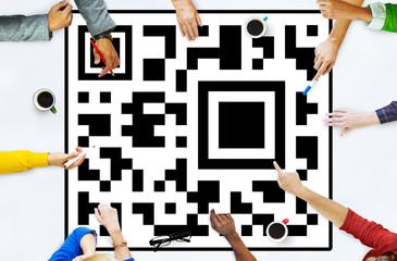 Bar code Coding Encryption Identity Concept