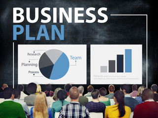 Business Plan Planning Strategy Meeting Seminar Concept