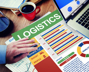 Logistics Businessman Working Thinking Planning Concept