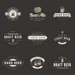 Beer Hipster Logo design vector typography. Brewery Logotypes - 79060011