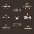 Gin Tonic Retro Vintage Labels Hipster Logo design vector - 79060025