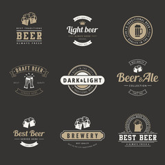 Hipster Logo Retro design vector typography lettering templates