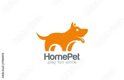 Fototapeta Silhouette Dog Logo design vector. Home Pet shop icon