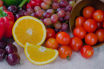 colorful of food