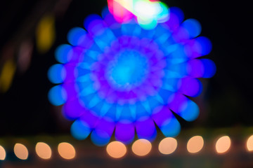 Colorful defocused color lights bokeh background, Chrismas light