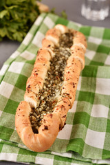 Pita bread with cheese and dill