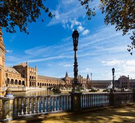 Plaza de Espana in sunny day. Seville, Spain