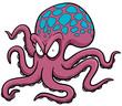 Vector illustration of Cartoon octopus