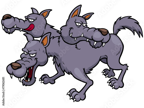 Vector illustration of Cerberus cartoon - 79062681