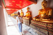 Buddhist temple, Wat Pho in Bangkok ,Asia Thailand