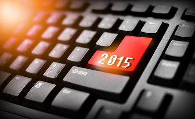 2015 on red button keyboard