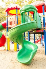 Childrens slide/Childrens slide in public park
