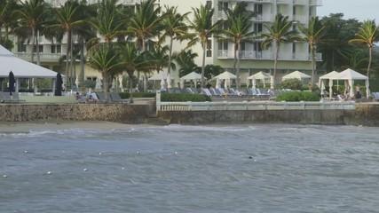 Tropical Caribbean beachfront hotel in Montego Bay, Jamaica