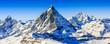 Leinwandbild Motiv Matterhorn, Swiss Alps - panorama