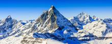 "Постер, картина, фотообои ""Matterhorn, Swiss Alps - panorama"""