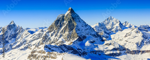 Canvas Europese Plekken Matterhorn, Swiss Alps - panorama