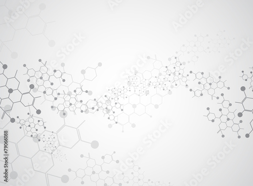 Abstract background medical substance and molecules.