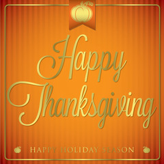 Typographic Thanksgiving Card in vector format.