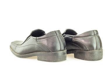 Old black man's shoes