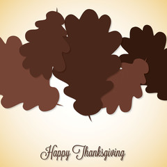 Acorn leaf Thanksgiving card in vector format.