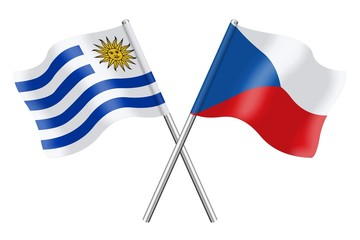 Flags: Uruguay and Czech Republic