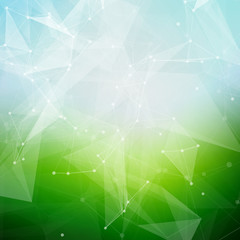 Abstract polygonal summer time low poly bright background with