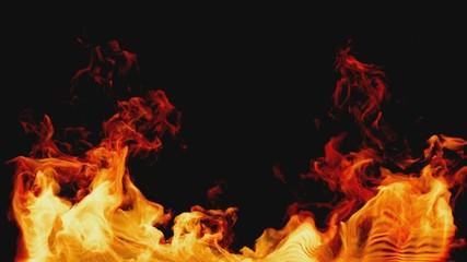 bottom on fire