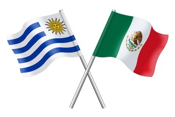 Flags: Uruguay and Mexico