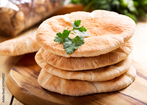 Fotobehang Brood pita bread