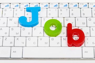 word job on keyboard