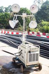 Construction site mobile spot light
