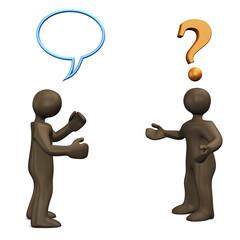Kommunikationsproblem, Figuren, 3d illustration