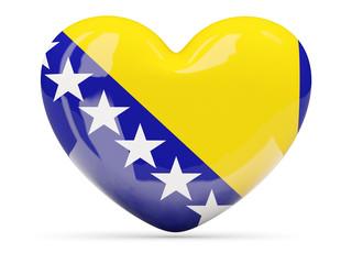 Heart shaped icon with flag of bosnia and herzegovina