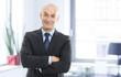 canvas print picture - Senior businessman portrait