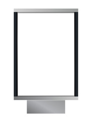 Vector blank citylight lightbox
