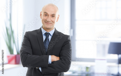 canvas print picture Senior businessman portrait
