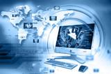 Digital internet technology poster