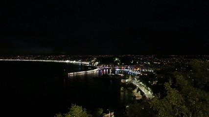 night Nice harbor