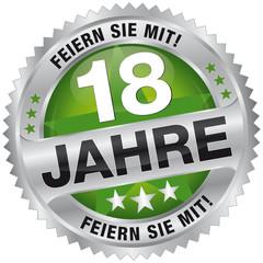 18 Jahre - Feiern Sie mit!