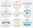Seafood labels and badges vol. 2 colored - 79071845