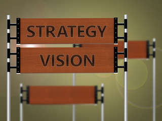 Strategy vision signpost