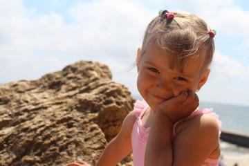 Happy smiling summer girl