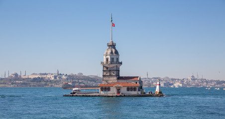 Maiden's Tower lighthouse in Istanbul