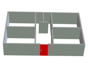 kırmızı kapılı ev